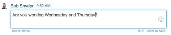 Edit chat window