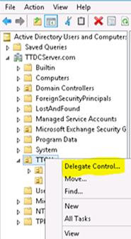Delegate control