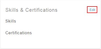 Editar habilidades y certificaciones