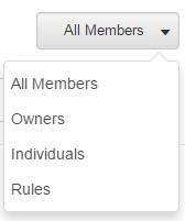 Group filter menu