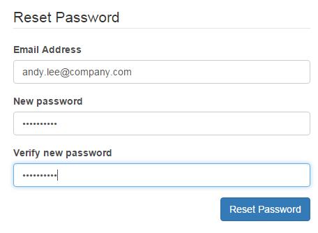 新しいパスワードの作成