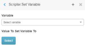 Scripter Set Variable