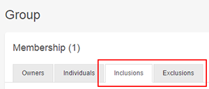 Create inclusion or exclusion rules