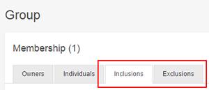 Crear reglas de inclusión o exclusión