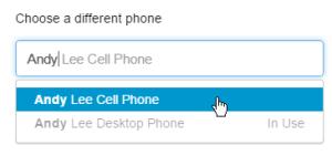 電話を選択
