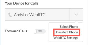 Deselect phone option