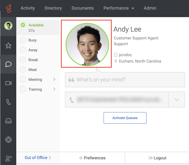 Sidebar image with larger settings image