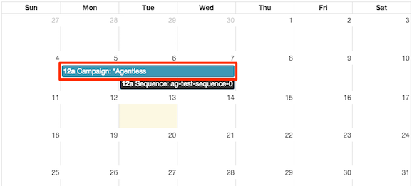 Figure shows selection of a schedule entry in the calendar.