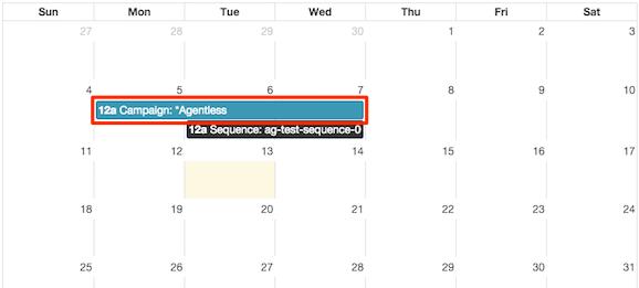 図は、カレンダーのスケジュール エントリの一部を示しています