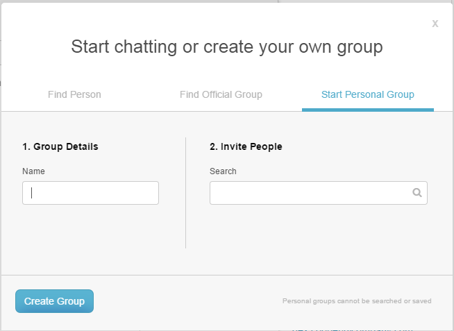Create your own personal group
