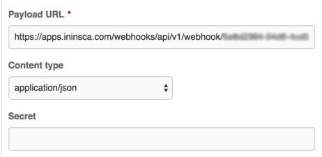 GitHub webhook setup