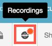 Recordings icon