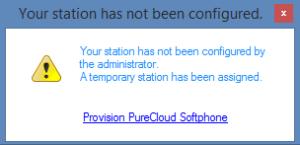 SoftphoneStationNotConfigured