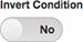 条件を反転するために使用するスイッチを図します。