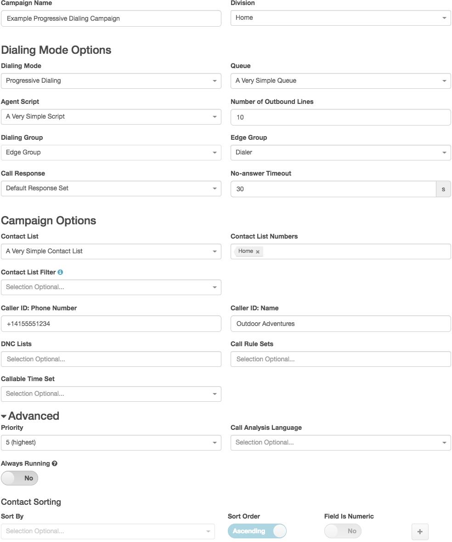 Image shows a progressive mode campaign in the editor