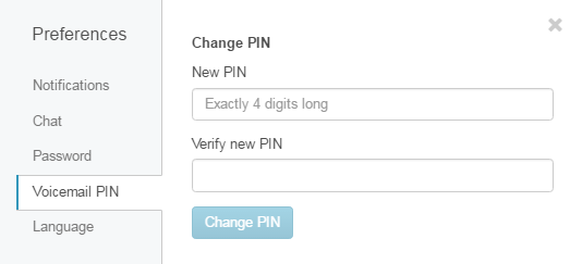 Change voicemail PIN