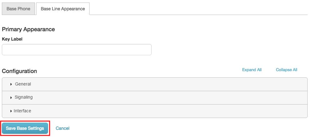 保存 PureCloud ソフトフォン ベース ライン