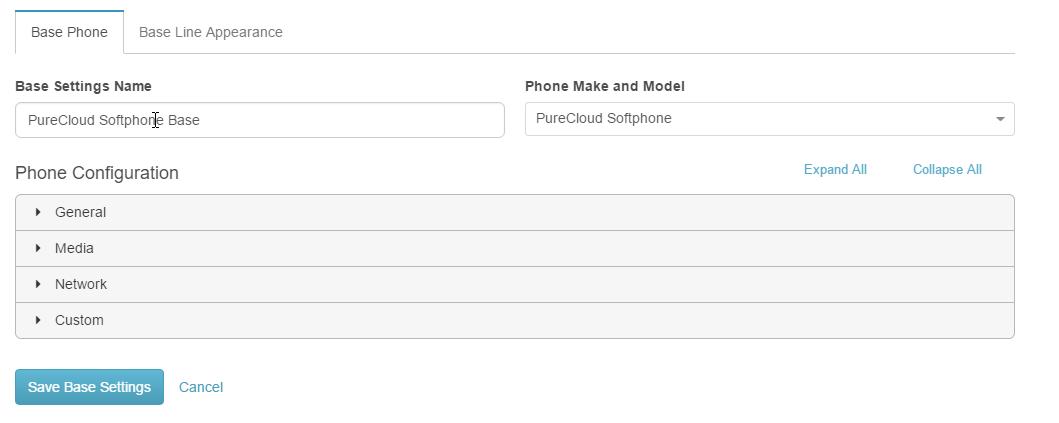PureCloud ソフトフォンの設定を保存します。