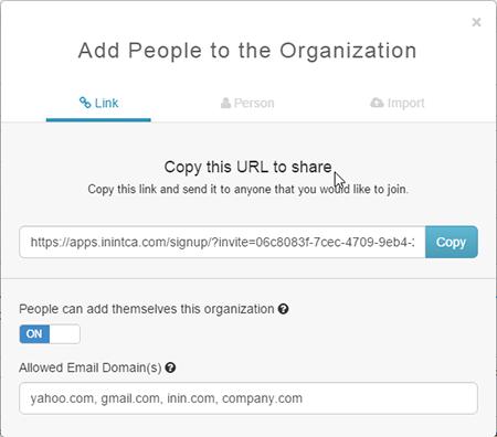 Create an invite link