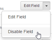 Disable Field selection