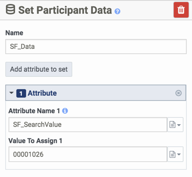 Set Participant Data for SF_SearchValue attribute