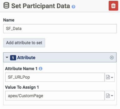 Set Participant Data with SF_URLPop attribute