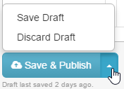 Save and Publish options