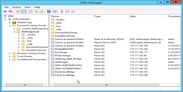 Enable DHCP and DNS on your server for phone provisioning