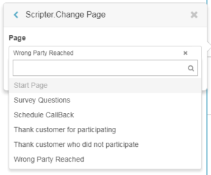 Scripter change page action