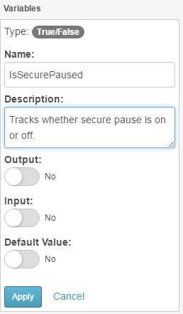 IsSecurePaused variable