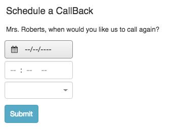 Schedule a callback