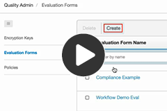 Create an evaluation form