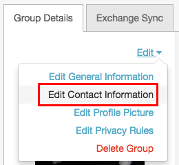 Edit Contact Information