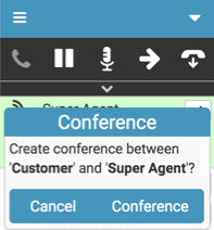 Conference call confirmation