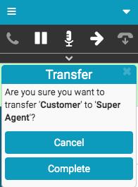 Confirm transfer