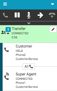 Consult transfer connected