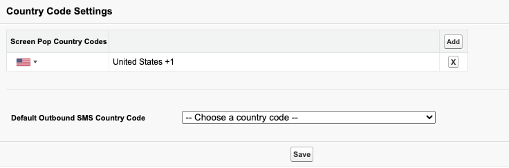 Country Code Settings in Salesforce