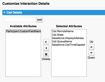 Customize Interaction Details in Salesforce
