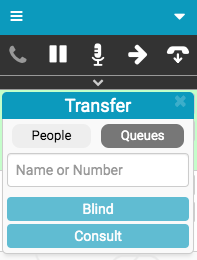 Transfer window with Queues selected