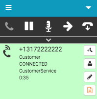 Outbound dialing interaction number connected