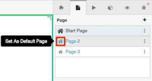 Figure shows where to click to change the default page setting.