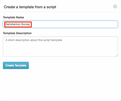 create a script template purecloud resource center