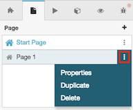 Figure shows how to open a menu of page-related options