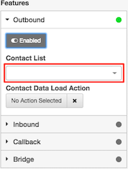 Figure shows drop list used to select a contact list