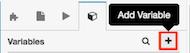 図は、新しい変数を追加するボタンを示しています