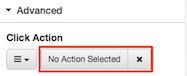 Figure shows the No Action Selected button.