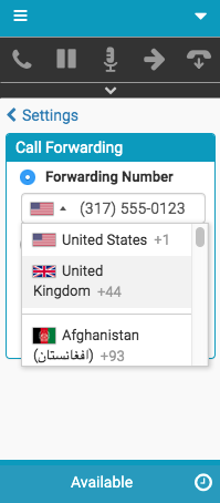 Flag selection for call forwarding