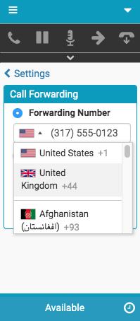 コール転送のフラグ選択