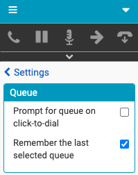 Queue Settings window for selected queue