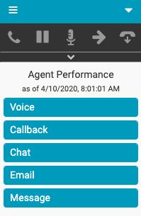 Agent Performance window